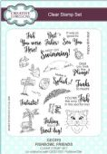 Creative Expressions - Fishbowl Friends A5 Clear Stamp Set - CEC815
